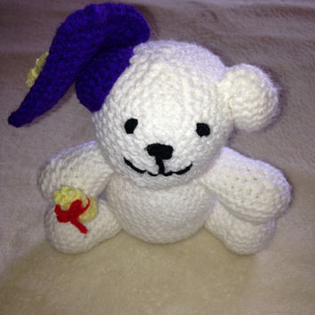 Graduation Bear Stuffed Animal - Crochet