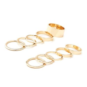 Etched Stackable Ring Set