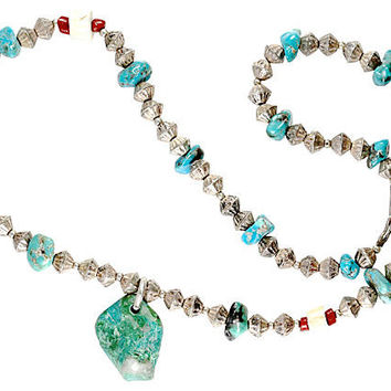 Navajo Fluted Bench Bead Necklace