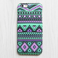 Pink and Turquoise Green Aztec iPhone 6s 6 iPhone 6 plus Case Ethnic iPhone 5 iPhone 5C iPhone 4 Case Tribal Galaxy S6 edge S6 S5 Case 074