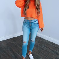 Fall Festivities Sweater: Neon Orange