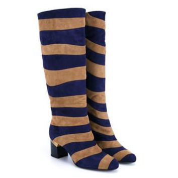 LANVIN   Striped Suede Boots   brownsfashion.com   The Finest Edit of Luxury Fashion   Clothes, Shoes, Bags and Accessories for Men & Women