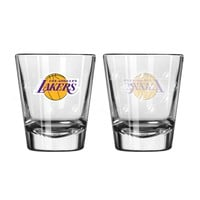 Los Angeles Lakers Shot Glass - 2 Pack Satin Etch