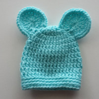 You Pick 12 Colors - Baby Bear Beanie - Newborn hat - baby animal accessories - unisex boy and girl