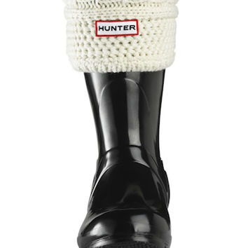 Short Moss Cable Cuff Welly Socks | Hunter Boot Ltd