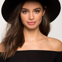 Stella Wool Wide Brim Hat