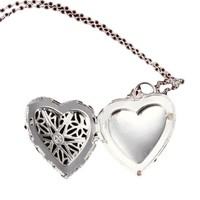 Heart Locket Chain Necklace For Women