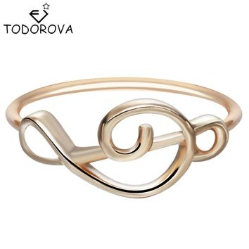 Todorova Treble Clef Jewelry Charm Music Lover Gift Knuckle Ring Silver Gold Minimalist Music Note Rings Minimalist Hipster