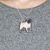 Buy Pug Necklace at ohhdeer.com