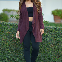 Madison Cardigan - Burgundy