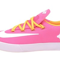 Nike Kid's KD VULC (GS), Pink Glow/White-Atomic Mango-White, Youth Size 7