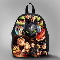how to train your dragon, School Bag Kids, Large Size, Medium Size, Small Size, Red, White, Deep Sky Blue, Black, Light Salmon Color