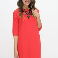 Lady in Red Dress | Game Day | Southern Flair Boutique
