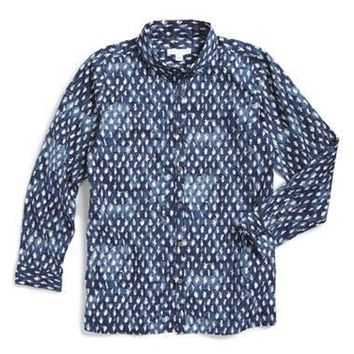 Boy's Burberry 'Merison' Long Sleeve Print Woven Shirt,