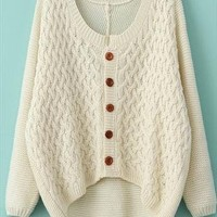 A 081905 Cardigan sweater jacket retro twistAAA