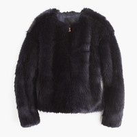 J.Crew Womens Collection Faux-Fur Jacket