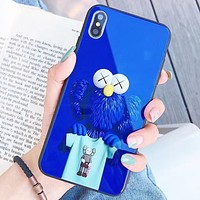 Kaws New fashion pattern print couple protective case phone case Blue