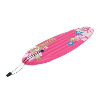 "59"" Pink and White Inflatable Surfboard-Inspired ""Hawaii"" Pool Float"