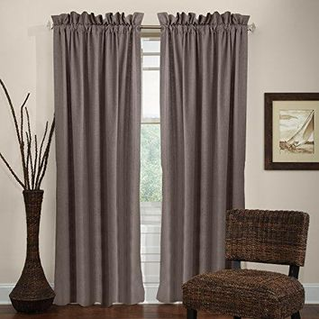 """Veratex The Madison Window Collection 100% Linen Panel Curtain, Brown, 84"""""""