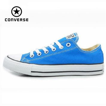 Original Converse all star men's and women's sneakers Sky blue canvas shoes for men women low Skateboarding Shoes free shipping