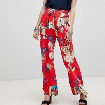 Kiss The Sky Floral Wide Leg Trousers Co-Ord at asos.com