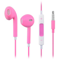 Earphone Headphone With Mic and Volume Control In Retail Box For iPhone 4 4S 5-Pink