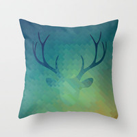 DH1 Throw Pillow by Deniz Erçelebi