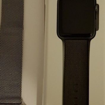 Apple Watch Series 1 42mm Space Grey Aluminium Case with 2 straps