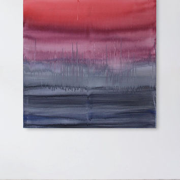Original Ombre Painting, Abstract Canvas Art, 36 x 36