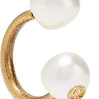 Gucci - Gold-plated faux pearl earring