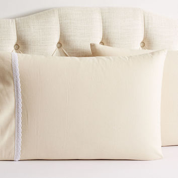 Crochet Shams, Beige/White, Pillow Cases