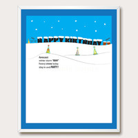 Funny Drinking Birthday Printable. Funny Birthday Card. Boston Snow. Drinking Humor. Snow Storm. Instant Download