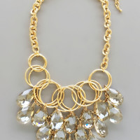 Gatsby Crystal Statement Necklace