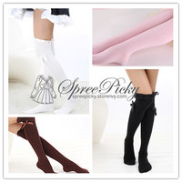 {3 For 2}J-fashion Lace Bow Thigh Over Knee Stocking Tights Free Shipping SP130018 from SpreePicky