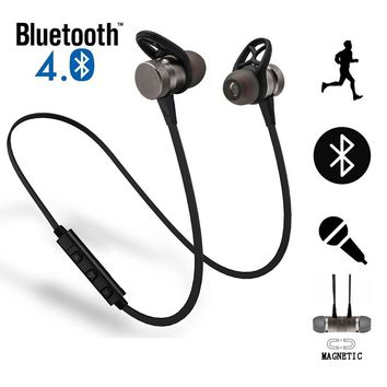 Wireless Bluetooth Earphones M98 Metal Magnetic Sport Running Headphones Stereo Super Bass Headsets Earbuds with Mic