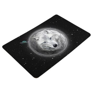 Wolf Moon Floor Mat