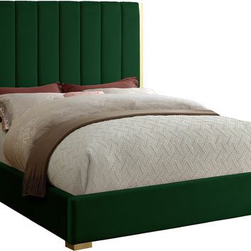 Becca Green Velvet King Bed