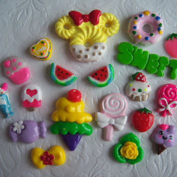 Mixed Lot/Variety Pack Assorted Deco Sweets Dessert Food for DIY Projects, Phonecase Deco, Hairbow Centers, Scrapbooking SP3