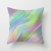 COLOUR WAVE Throw Pillow by catspaws