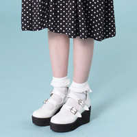 Buckle Strap Wedge White