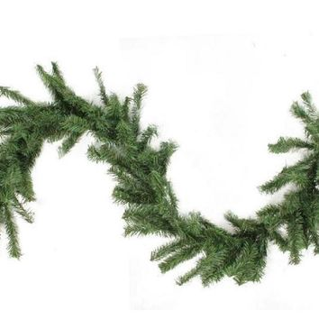 "9' x 8"" Canadian Pine Artificial Christmas Garland - Unlit"