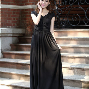 Cap Sleeve Formal maternity dress, Summer Long Prom Maxi dress, baby shower dress