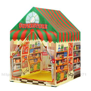 Kids toys tents Foldable Portable Boy Girl Princess Castle Indoor Outdoor Play Tents play mat Rug Playhouse For Child Best Gifts