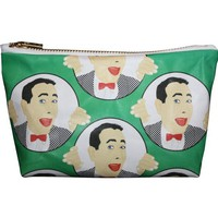 Pee Wee Herman Pop Zipper Pouch and Makeup Bag – Illustrated and Handmade in the USA