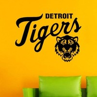 Detroit Tigers Baseball League MLB Team Logo Sport Wall Vinyl Decal Mural Decals Sticker W1391