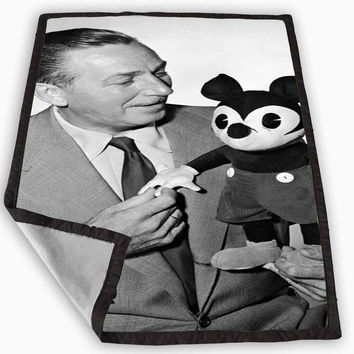 Walt and Mickey Mouse Disneyworld Blanket for Kids Blanket, Fleece Blanket Cute and Awesome Blanket for your bedding, Blanket fleece *