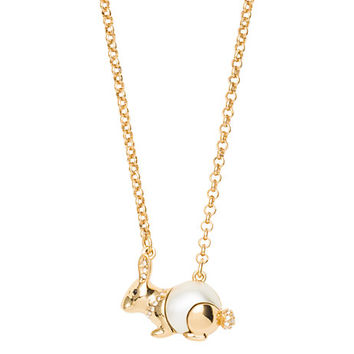 Kate Spade Zodiac Spirit Animals Rabbit Pendant Cream Multi ONE