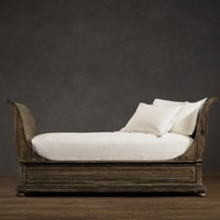 St. James Sleigh Daybed Antiqued Coffee | Daybeds | Restoration Hardware