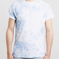 BLUE SMOKE WASH ROLLER T-SHIRT
