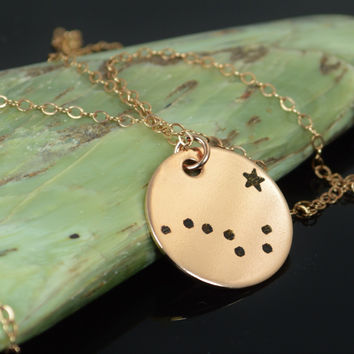 Rose Gold Filled Big Dipper Necklace